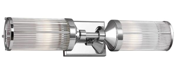 Feiss Paulson 2 Light Bathroom Wall Light Polished Chrome