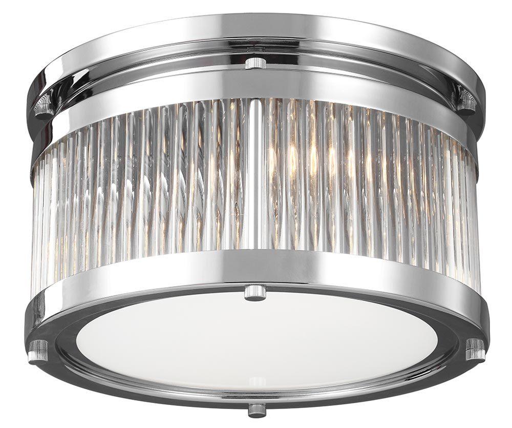 Feiss paulson flush mount 3 light bathroom ceiling light - Flush mount bathroom ceiling lights ...