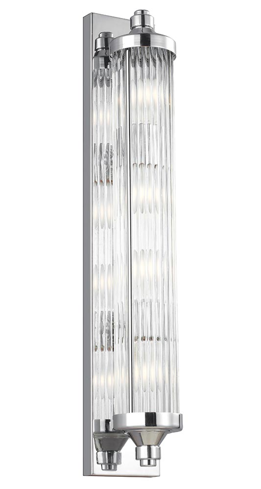 Feiss Paulson 4 Light Bathroom Wall Bar Light Polished Chrome