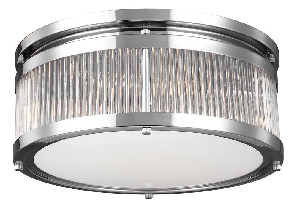 the best attitude 99a75 b5683 Feiss Paulson Flush Mount 4 Light Bathroom Ceiling Light Polished Chrome