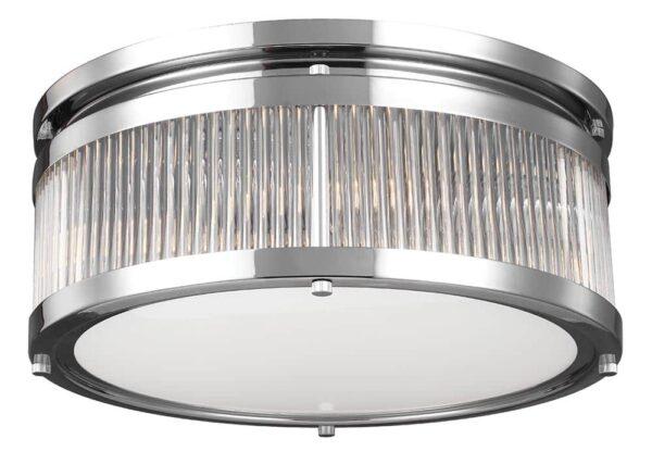 Feiss Paulson Flush Mount 4 Light Bathroom Ceiling Light Polished Chrome