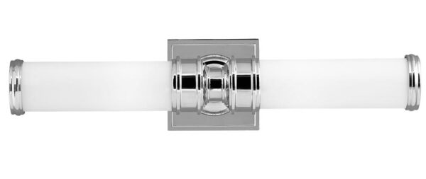 Feiss Payne 2 LED Bathroom Wall Light Polished Chrome Opal Glass