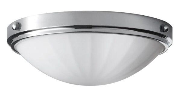 Feiss Perry 2 Light Flush Bathroom Ceiling Light Polished Chrome