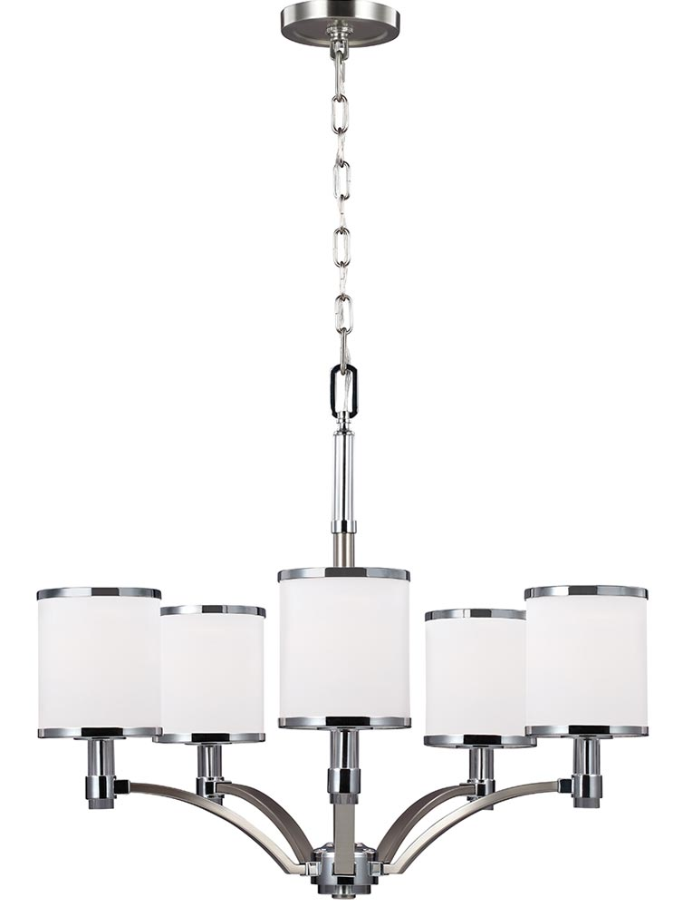 Brainerd 5 Light Unique Classic Traditional Chandelier with Hand Blown Glass Accents