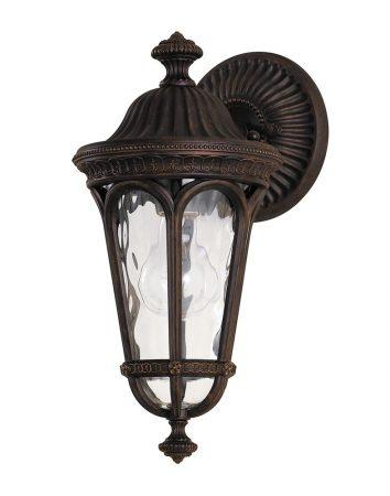 Feiss Regent Court 1 Light Small Outdoor Wall Lantern Walnut