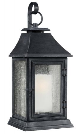Feiss Shepherd Extra Large Outdoor Wall Lantern Dark Weathered Zinc