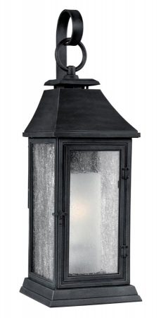 Feiss Shepherd Medium 1 Light Outdoor Wall Lantern Dark Weathered Zinc