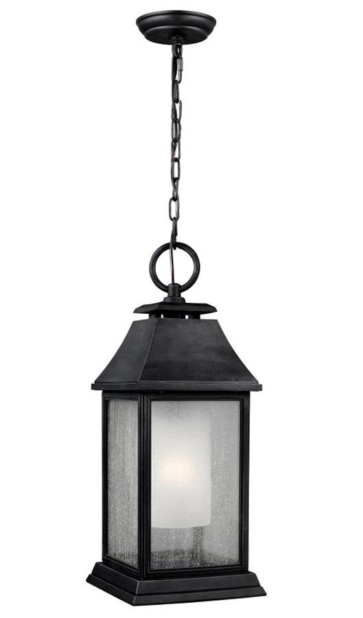 Feiss Shepherd Large Hanging Outdoor Porch Lantern Dark Weathered Zinc