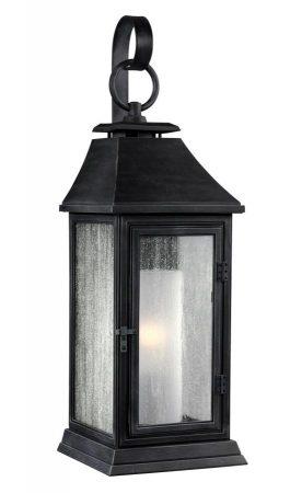 Feiss Shepherd Small 1 Light Outdoor Wall Lantern Dark Weathered Zinc