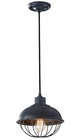 Feiss Urban Renewal Industrial 1 Light Mini Pendant Antique Iron