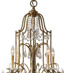 Feiss Valentina 12 Light 2 Tier Chandelier Oxidised Bronze With Crystal