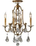 Feiss Valentina 4 Light Dual Mount Chandelier Oxidised Bronze With Crystal