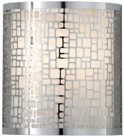 Feiss Joplin 1 Light Wall Light Polished Chrome With Laser Cut Shade