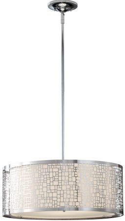 Feiss Joplin Large Height Adjustable 3 Light Pendant Polished Chrome