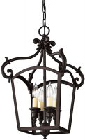 Feiss Luminary Bronze 4 Light Small Open Hanging Lantern