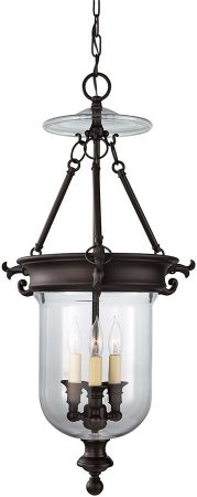 Feiss Luminary Bronze 3 Light Georgian Hanging Lantern