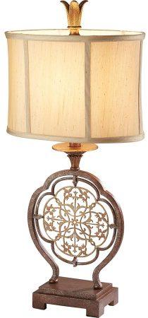 Feiss Marcella Designer Fret Laced 1 Light Table Lamp Bronze