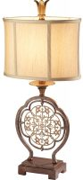 Feiss Marcella Designer Fret Laced 1 Light Table Lamp Bronze