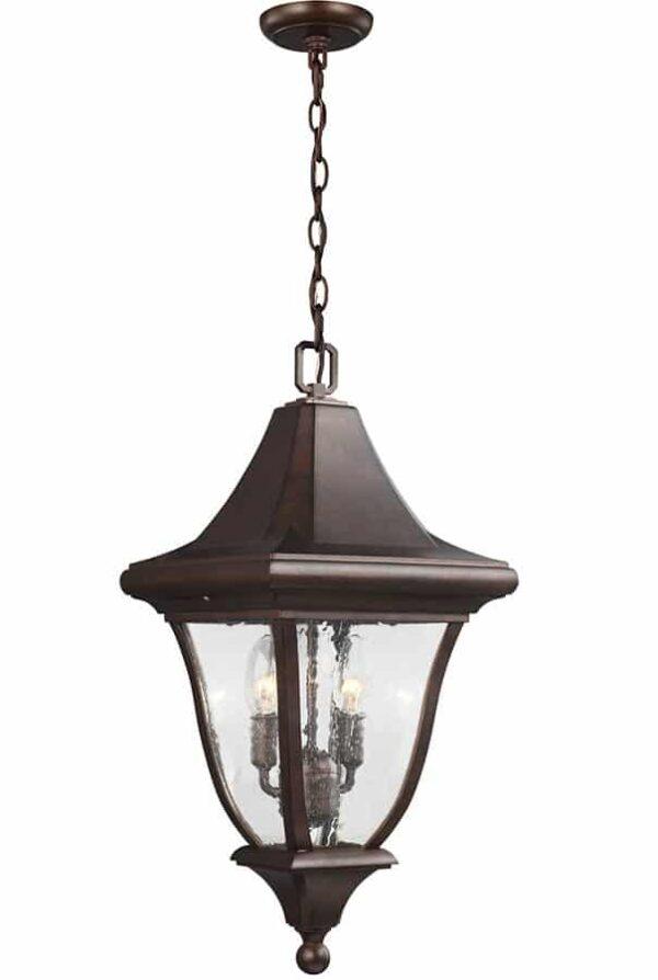Feiss FE/OAKMONT8/M Oakmont 3 light hanging outdoor porch lantern