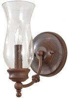 Feiss Pickering Lane Bronze Wall Light With Storm Glass Shade
