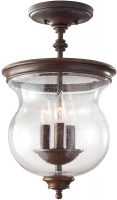 Feiss Pickering Lane Bronze 3 Light Glass Hanging Lantern