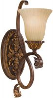 Feiss Sonoma Valley 1 Lamp Tall Wall Light Aged Tortoise Shell
