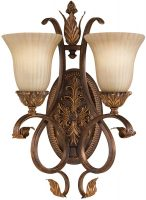 Feiss Sonoma Valley 2 Lamp Tall Wall Light Aged Tortoise Shell