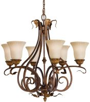 Feiss Sonoma Valley 6 Light Chandelier Aged Tortoise Shell