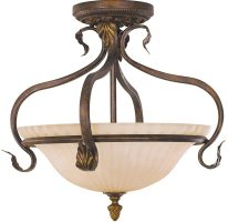Feiss Sonoma Valley 3 Light Semi Flush Fitting Aged Tortoise Shell