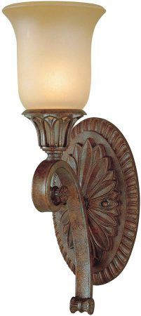Feiss Stirling Castle 1 Lamp Excavation Glass Wall Light British Bronze