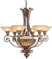 Feiss Stirling Castle Large 7 Light Chandelier British Bronze
