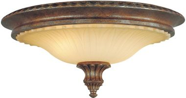 Feiss Stirling Castle Flush Excavation Glass 2 Light British Bronze