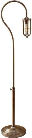 Feiss Urban Renewal Industrial Style Floor Lamp In Brass