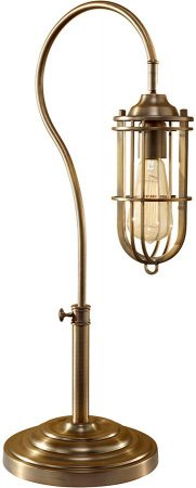 Feiss Urban Renewal Industrial Style Table Lamp In Brass