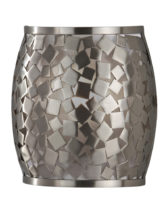 Feiss Zara Designer Brushed Steel Mosaic Wall Washer Light