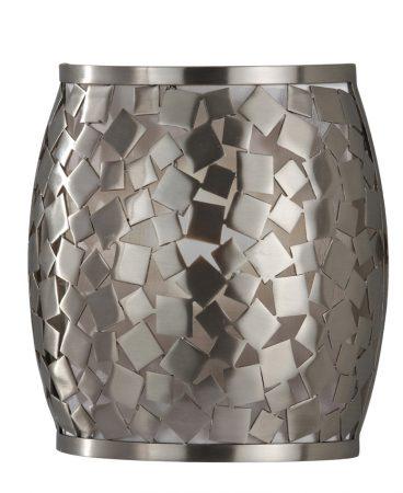 Feiss Zara 1 Light Wall Light Brushed Steel Organza Fabric