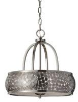 Feiss Zara Designer 4 Light Brushed Steel Mosaic Pendant