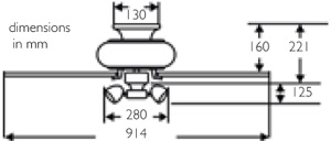 111733: amalfi ceiling fan dimensions