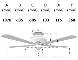 114482: vienna 42-inch ceiling fan dimensions