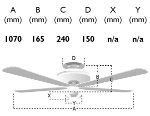 110507: 42-inch mayfair ceiling fan dimensions