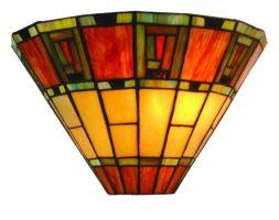 Fireglo Art Deco Style Tiffany Wall Lamp