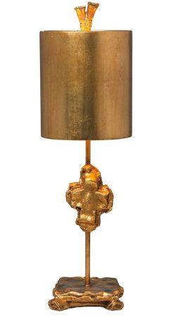 Flambeau Cross 1 Light Table Lamp Gold Leaf Shade