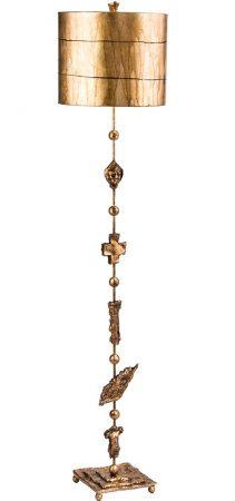 Flambeau Fragment 1 Light Floor Lamp Aged Gold