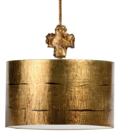 Flambeau Fragment 1 Light Large Ceiling Pendant Aged Gold