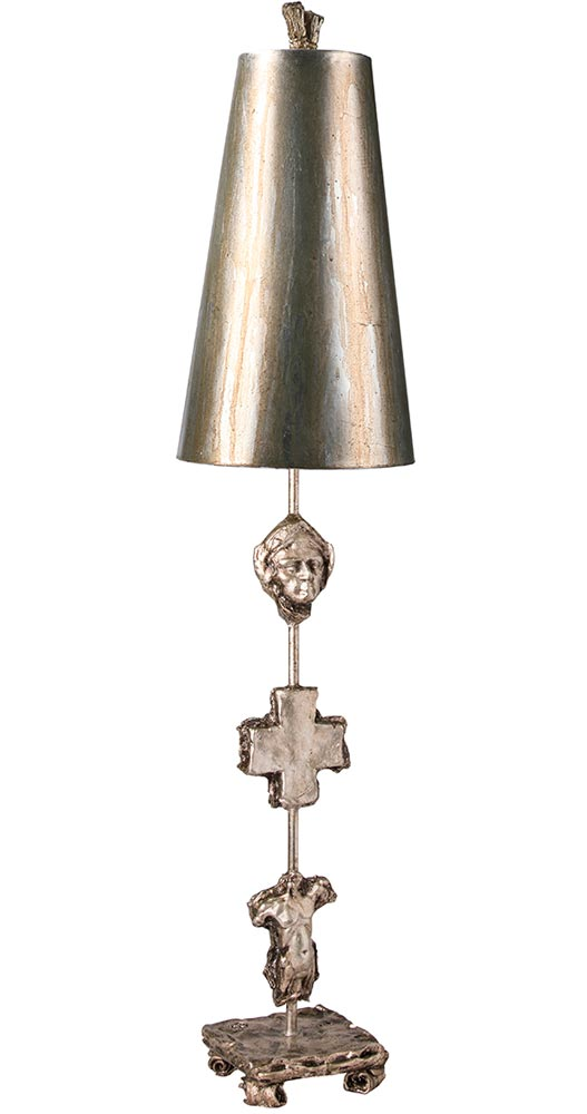 Flambeau Fragment 1 Light Table Lamp Aged Silver