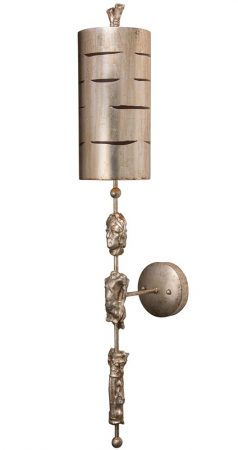 Flambeau Fragment 1 Light Large Wall Light Aged Silver
