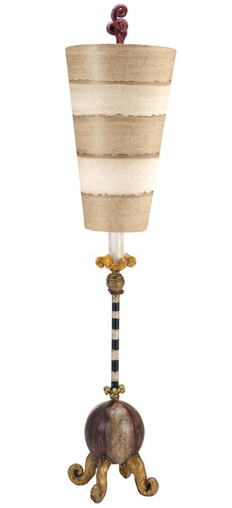 Flambeau Le Cirque Gold 1 Light Table Lamp Beige & Cream Shade