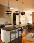 Flambeau South Beach 1 Light Ceiling Pendant Textured Cream & Black