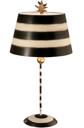 Flambeau South Beach 1 Light Table Lamp Textured Cream & Black
