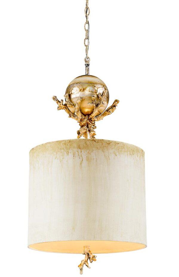 Flambeau Trellis 1 Light Pendant Ceiling Light Putty & Silver Leaf